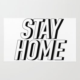 STAY HOME Rug