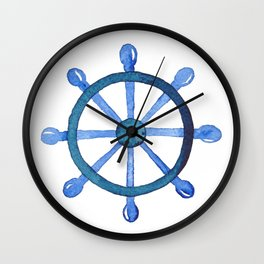 Navigating the seas Wall Clock