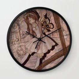 Windup Doll Wall Clock