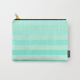 Green Teal Stripe Fade Carry-All Pouch