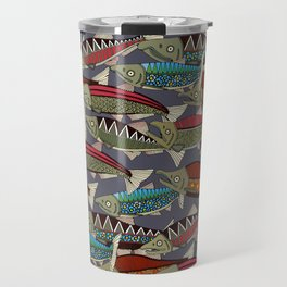 Alaskan salmon dusk Travel Mug