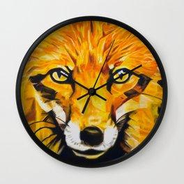 The Eyes Of A Thief - Fox Wall Clock