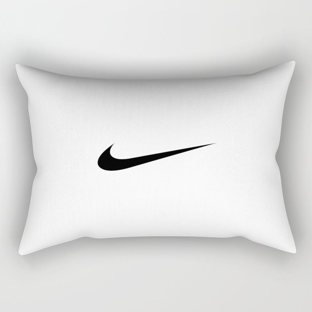 Nike/swoosh Black Rectangular Pillow RPW9056036