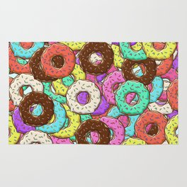so many donuts Rug