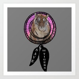 Tigers Dream Art Print