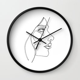 DISAPPOINTMENT ( ONE LINE DRAW) Wall Clock