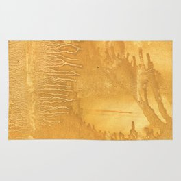 Sandy brown clouded watercolor Rug