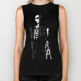 Dr. Hughes And The Skeleton In His Classroom Biker Tank