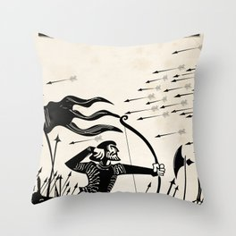 France vintage travel poster Throw Pillow