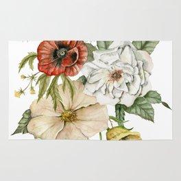 Wildflower Bouquet on White Rug