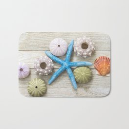 Blue Starfish and Friends Bath Mat