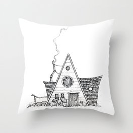 Hermit Cabin Throw Pillow