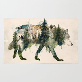 Wolf is the Pride of Nature Rug