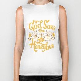 God Save the Honeybee Biker Tank