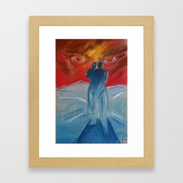 Beneath the storm Framed Art Print