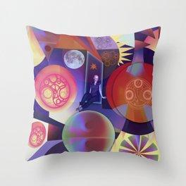 Galactic woman Throw Pillow