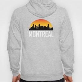 Sunset Skyline of Montreal QC Hoody
