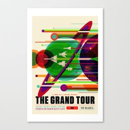 NASA Space Saturn Shuttle Retro Poster Futuristic Explorer Canvas Print