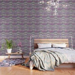 Venetian Bricks in Pink and Lavender Wallpaper