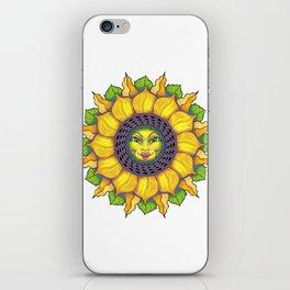 Sunflower Sunshine Girl by Amanda Martinson iPhone Skin
