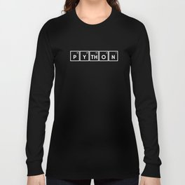 Python Periodic table Programmer Long Sleeve T-shirt