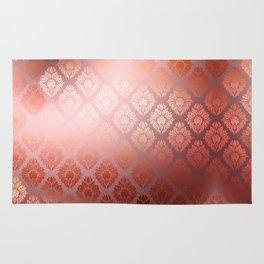 """""""Millennial Pink Damask Pattern"""" Rug"""