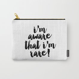 I'm aware that I am rare, Digital Print, Printable Wall Art, Printable Artwork, Wall Art Printables, Carry-All Pouch