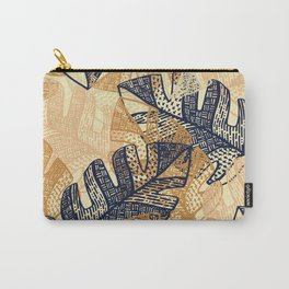 jungle tangle –navy, blush, gold Carry-All Pouch