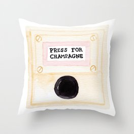Press For Champagne Throw Pillow