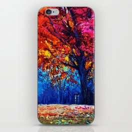 Tardis Tree Art Blossom iPhone Skin