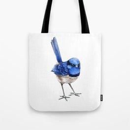 Splendid Fairy Wren, Blue on White Tote Bag