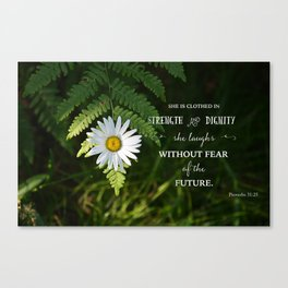 Clothed with Strength Canvas Print