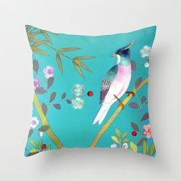 chinois 1731: turquoise  Throw Pillow