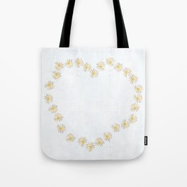 Daisy Chains And Hearts Tote Bag