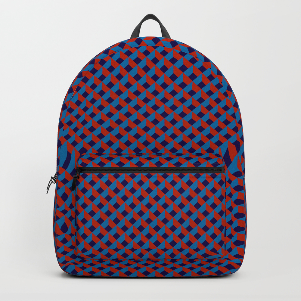 3d Red Blue Stereo Vision Backpack by Ozorozo BKP9118236
