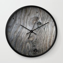 Real Aged Silver Wood Wall Clock