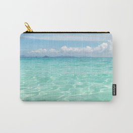 Sunstreaked Waters - Tropical Horizons Series Carry-All Pouch
