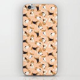 beagle scatter peach iPhone Skin