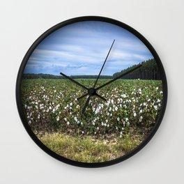 Cotton Fields  Wall Clock