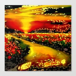 Art Morning Walk Pathway Painting In The Mix Art by © Catherine Lott Canvas Print