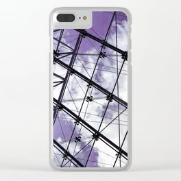 Glass Ceiling V (Landscape) - Ultraviolet Architectural Photography Clear iPhone Case