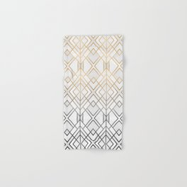 Gold And Grey Geo Hand & Bath Towel