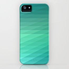 Fig. 043 Mint Green Geometric Diagonal Stripes iPhone Case