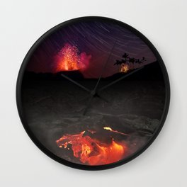Kilauea Volcano Eruption .4 Wall Clock