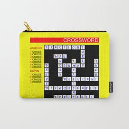 Crossword Carry-All Pouch