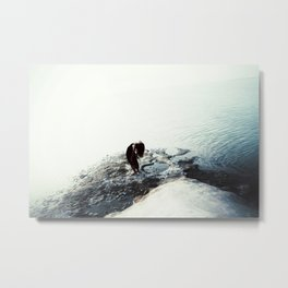 The in-between Metal Print