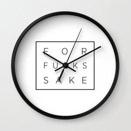 For Fucks Sake Wall Clock