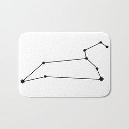 Leo Astrology Star Sign Minimal Bath Mat