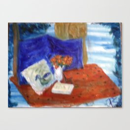 Still Life with Carving Canvas Print