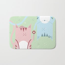 Traveling Tabbies: Flower Power Bath Mat